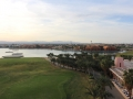 Blick vom Aussichtsturm auf das Hotel