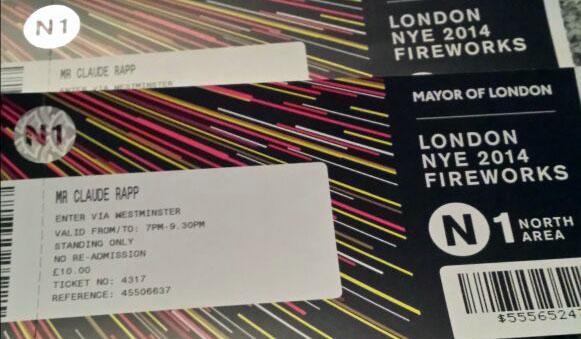 Tickets für das New Years Eve am London Eye