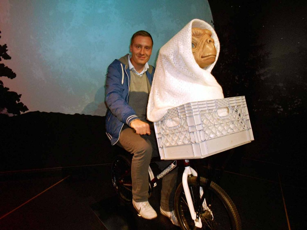 London mit E.T. und dem Fahrrad erkunden