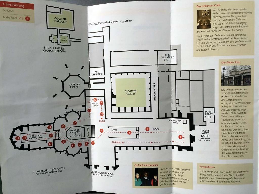 Plan der Westminster Abbey