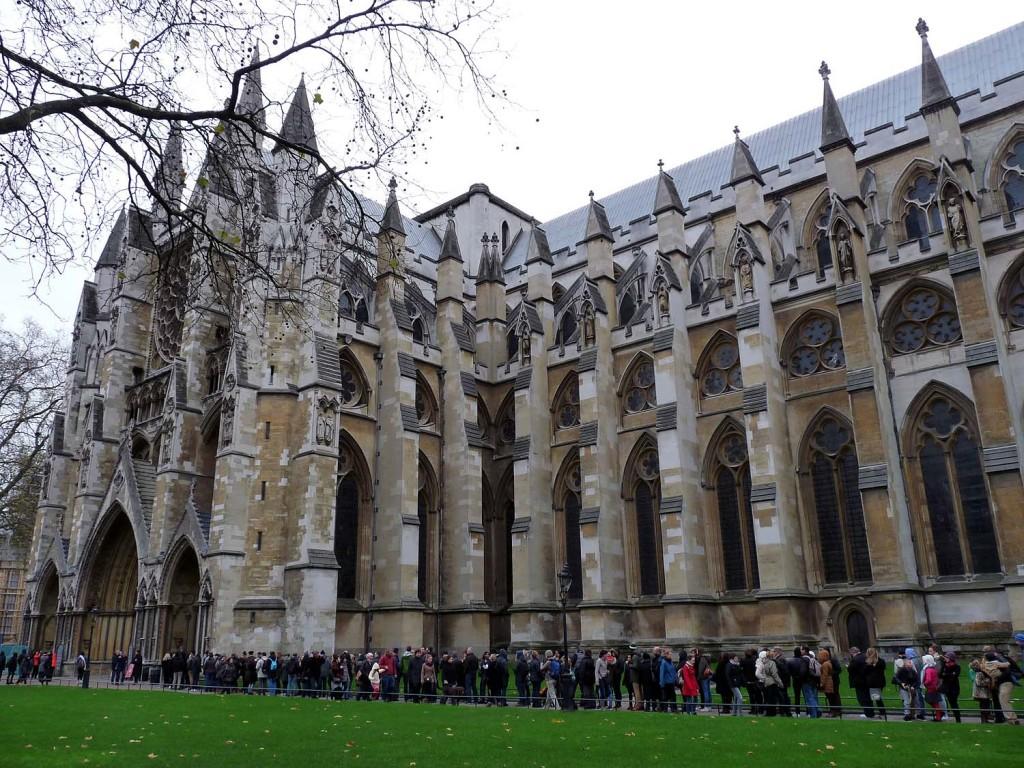 Schlange stehen für die Westminster Abbey