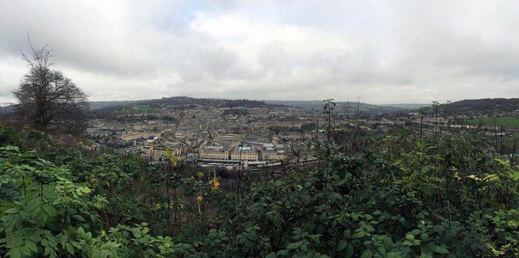 Der Ausblick auf Bath vom Alexandra Park