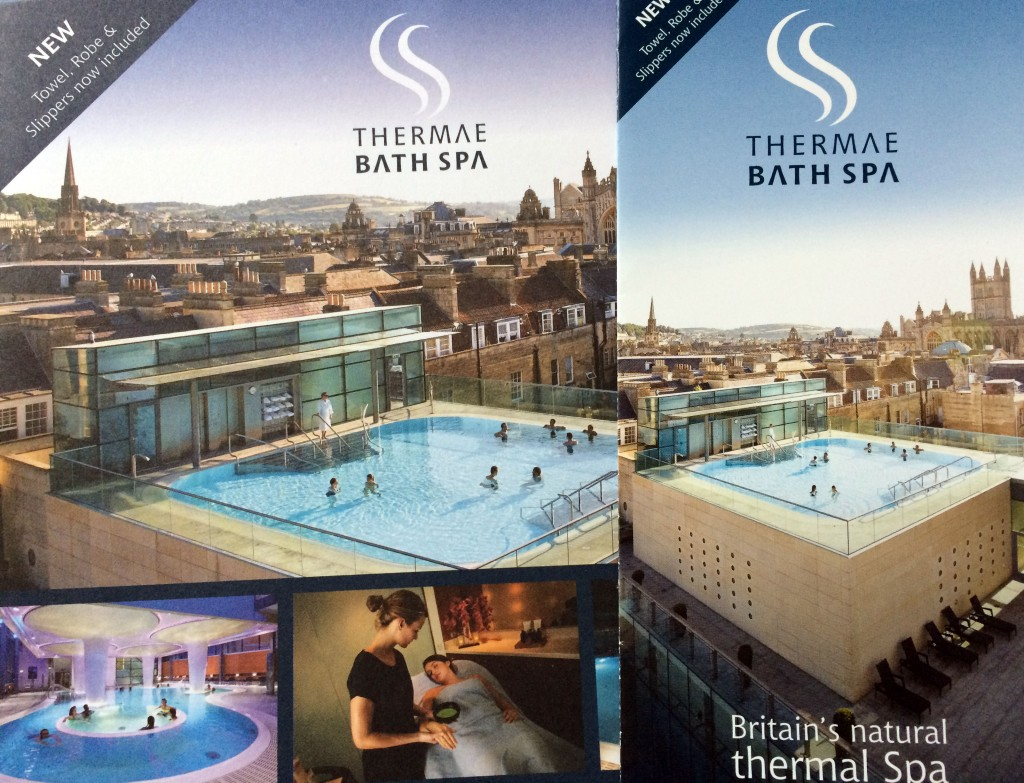 Prospekte der Bath Spa Therme