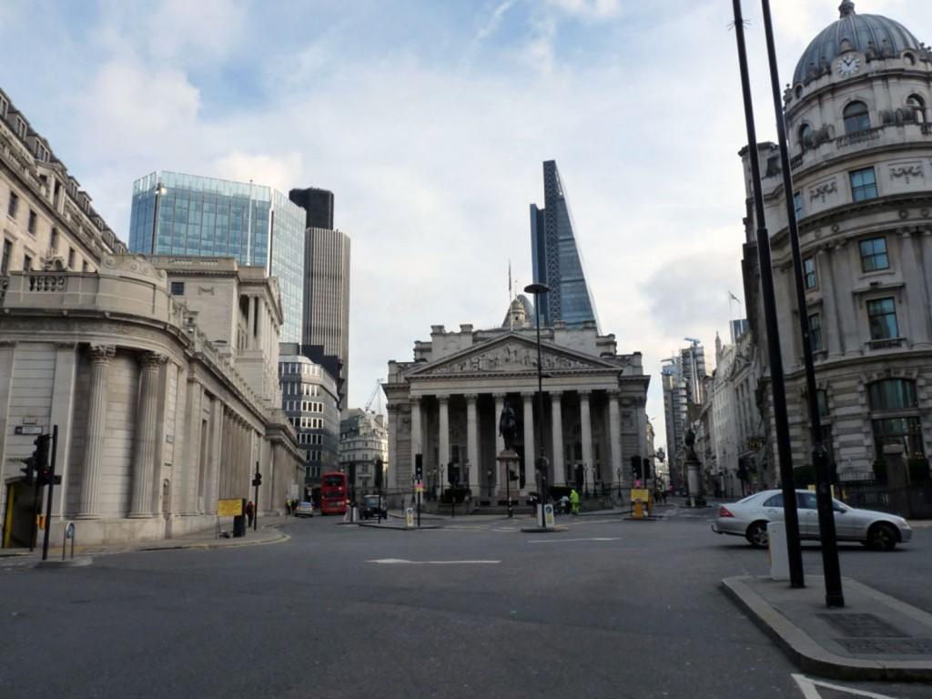 Nichts los im Bankenviertel und vor dem Bank of England Museum