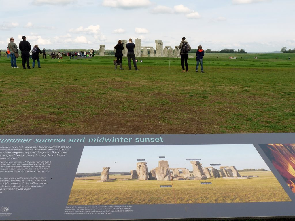 Informationstafel am Stonehenge