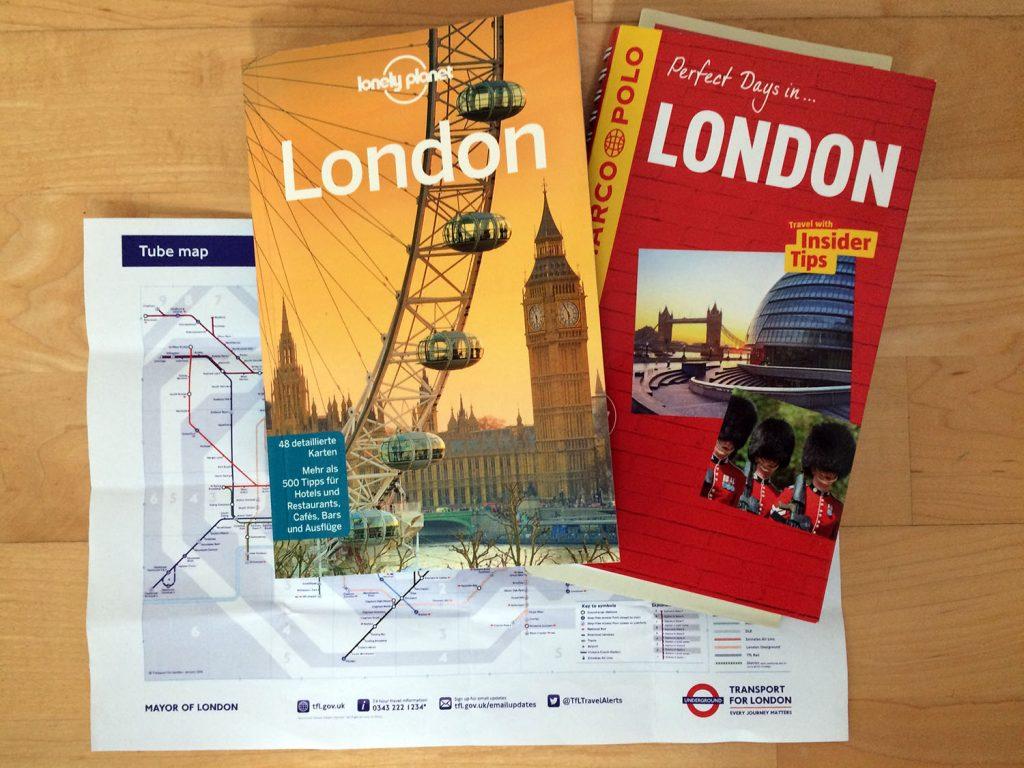 London-Reiseführer und Netzplan der Underground
