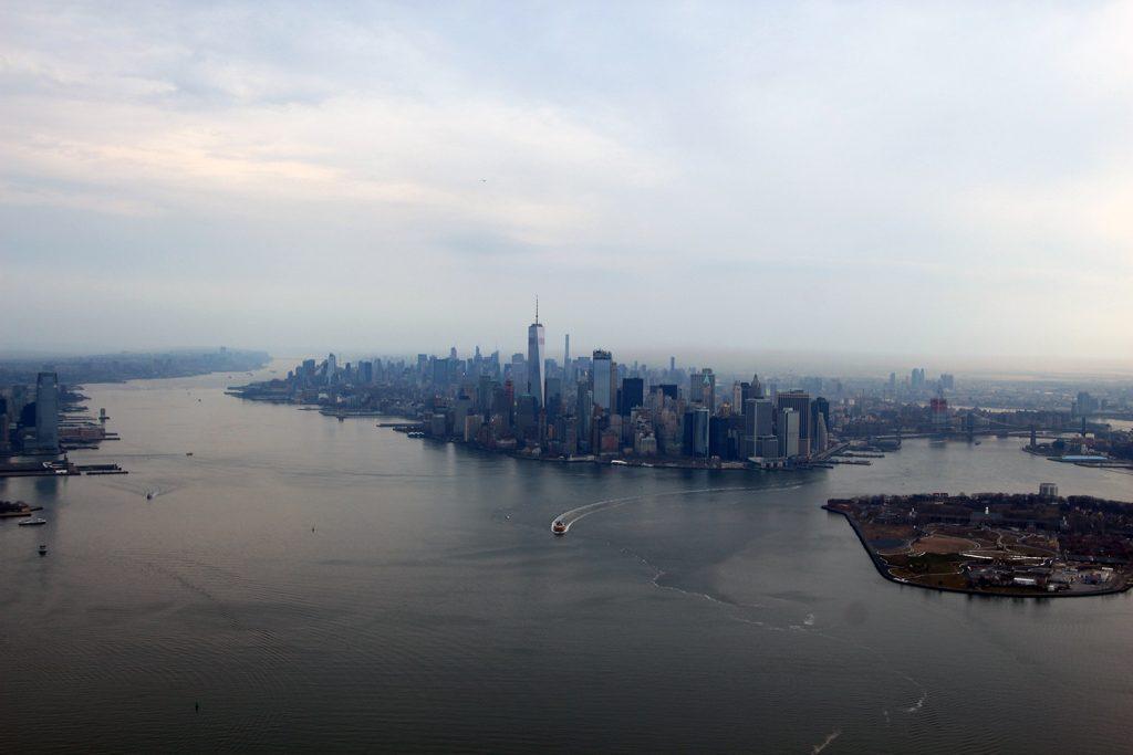 Der Blick auf New York City