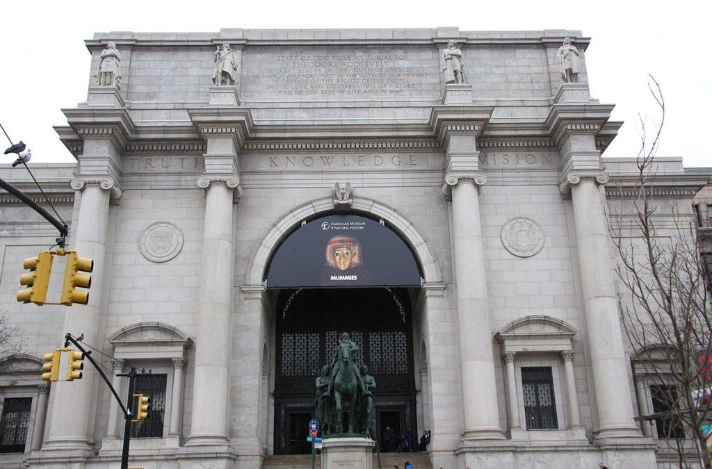 """Der Eingang vom Museum of Natural History bekannt vom Film """"Nachts im Museum"""""""
