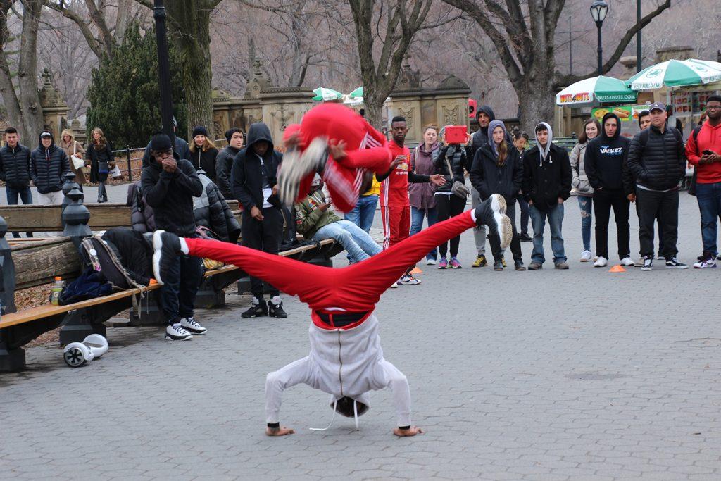 Eine der berühmten Breakdanceshows im Central Park