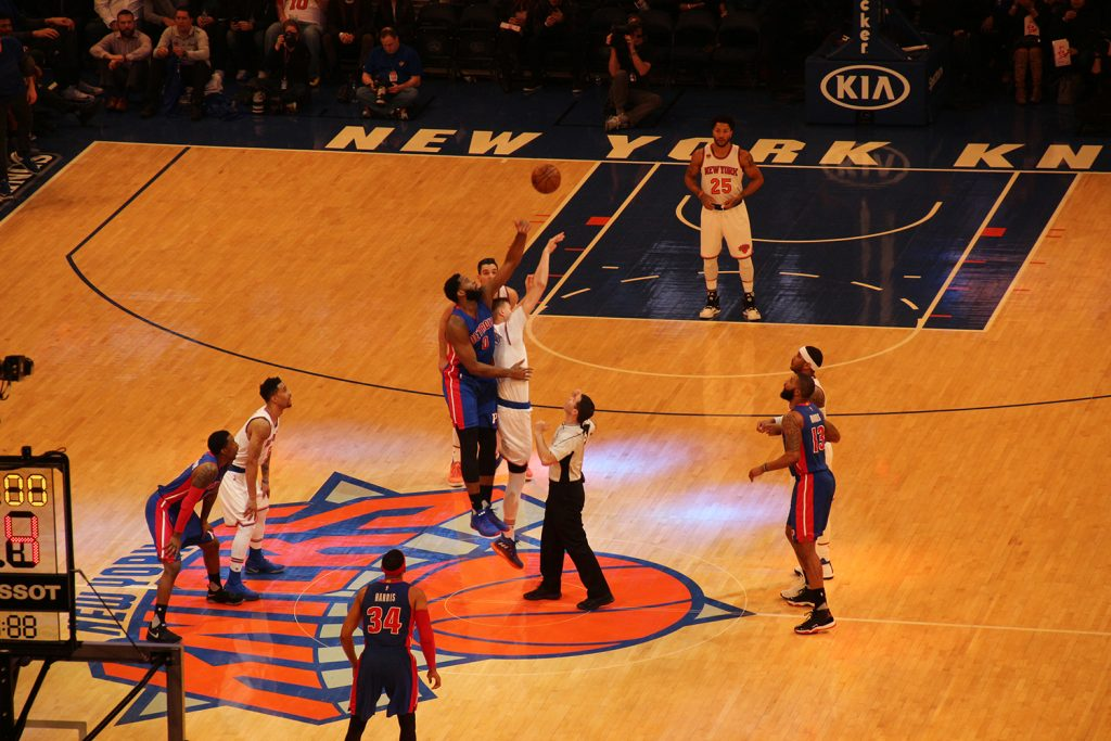Die New York Knicks im Madison Square Garden