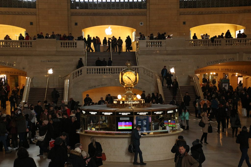 Die Uhr in der Grand Central Station