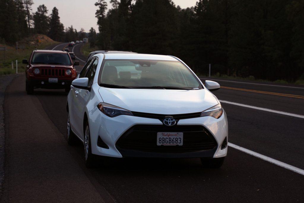 Unser Mietwagen. Ein Toyota Corolla