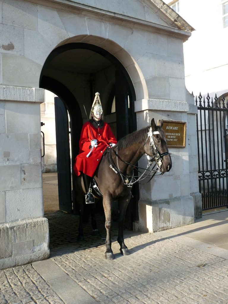 Beliebtes Fotomotive am Horse Guards