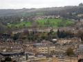 Ausblick auf Bath vom Alexandra Park auf Royal Crescent