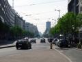 Straße zum Hotel Moscow