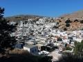 Blick von der Akropolis auf Lindos