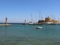 Mandraki Hafen - Wappentiere von Rhodos