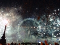 Feuerwerk am London Eye