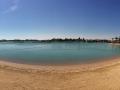 Die Lagune mit Hotelstrand