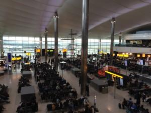 Abflug am Heathrow Airport