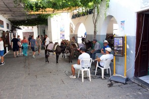 Esel-Taxistand in Lindos