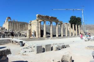 Auf der Akropolis in Lindos