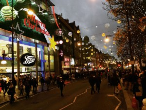 Oxford Street zur Weihnachtszeit