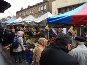 Straßenmarkt auf der North End Road