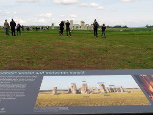 Informationstafel am Stonehenge