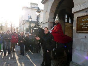 Beliebtes Fotomotive am Horse Guards - natürlich auch bei mir.