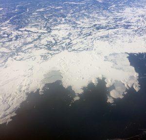 Über Neufundland auf dem Weg nach New York
