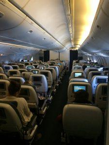 Der Hinflug in der Boing 777-300