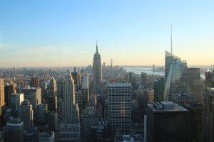 Der Blick auf das Empire State Building und Lower Mannhattan